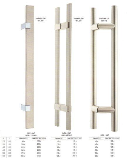 Λαβή INOX 304 Νο 230 – 220 - 175